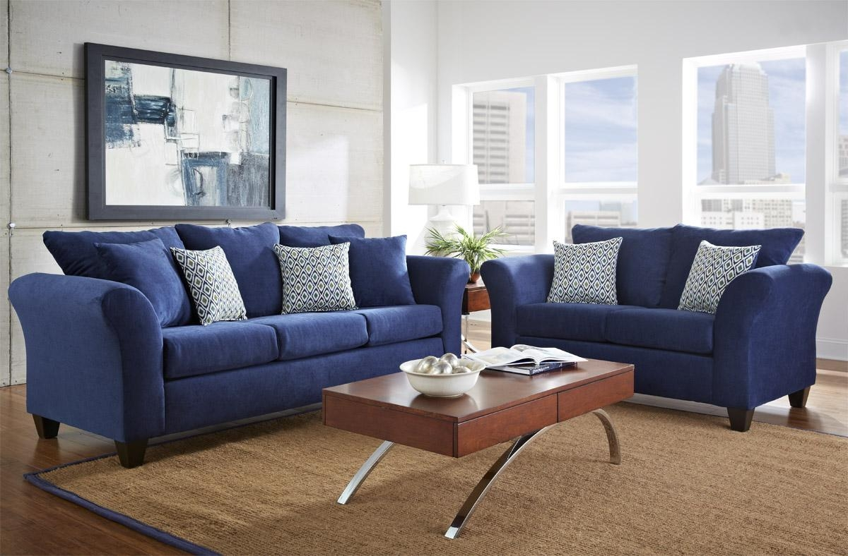 Blue Sofa Living Room – Living Room Within Blue Sofas (Image 9 of 20)