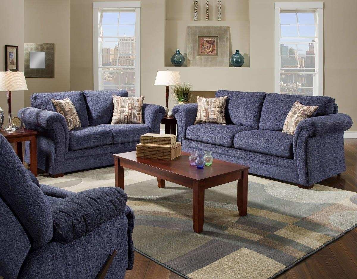 Blue Sofa Set | Tehranmix Decoration Intended For Blue Microfiber Sofas (Image 4 of 20)