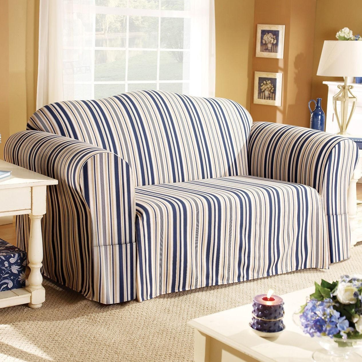 Blue Sofa Slipcover | Tehranmix Decoration In Blue Slipcovers (Image 2 of 20)