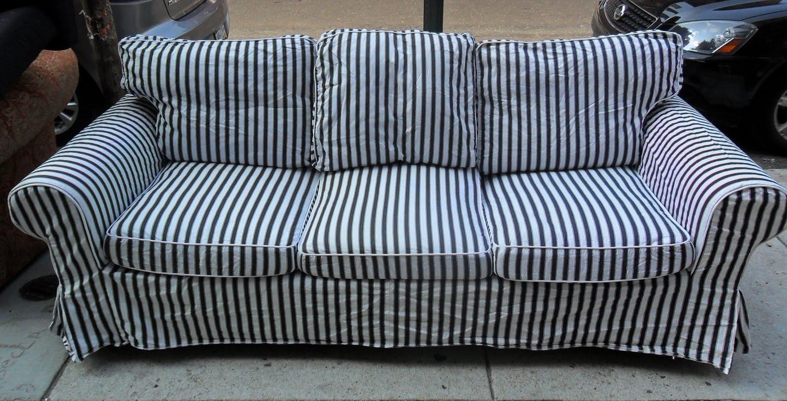 Blue Striped Sofa – Gallery Image Seniorhomes With Regard To Blue And White Striped Sofas (View 3 of 20)