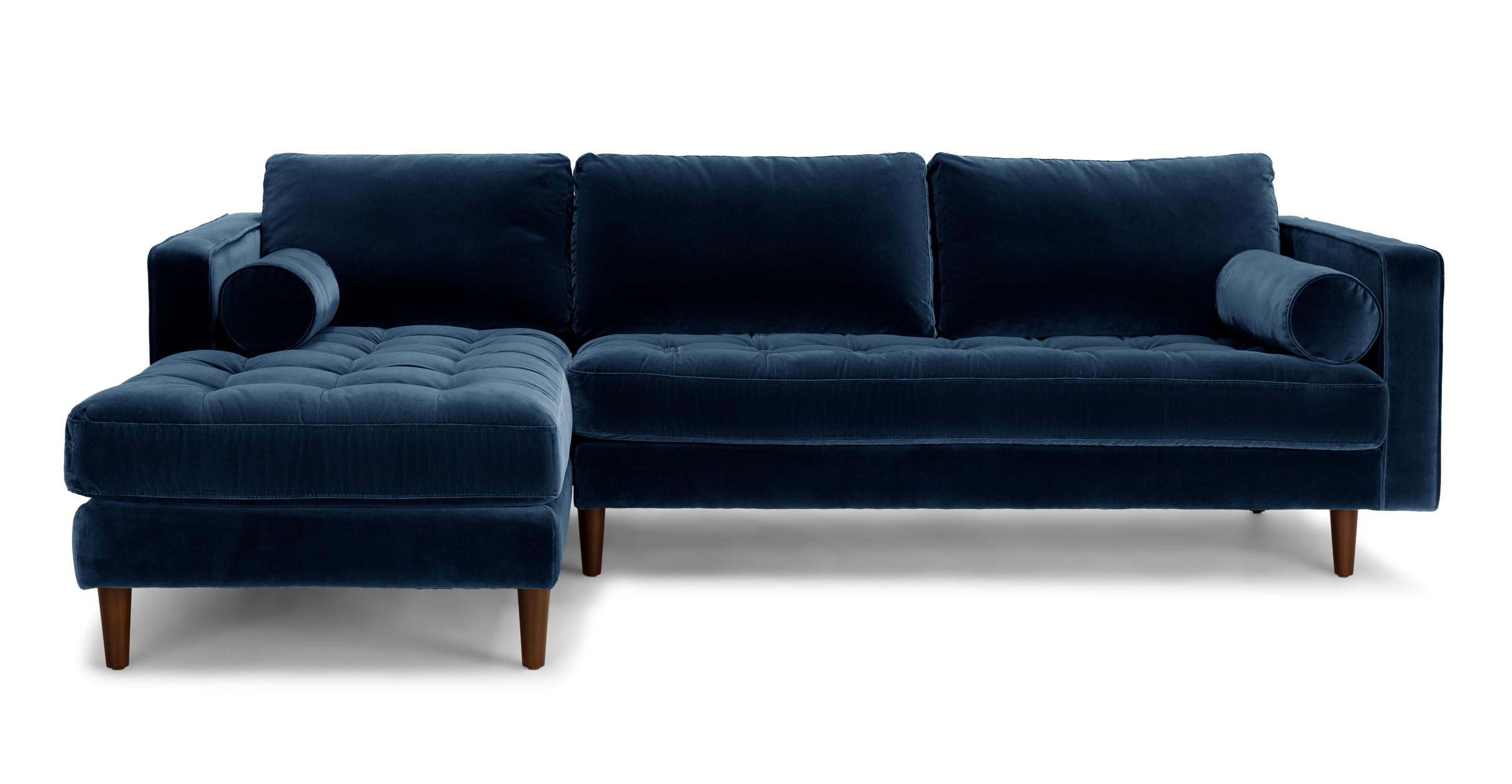 Blue Velvet Sectional Sofa | Tehranmix Decoration With Velvet Sofas Sectionals (Image 4 of 20)