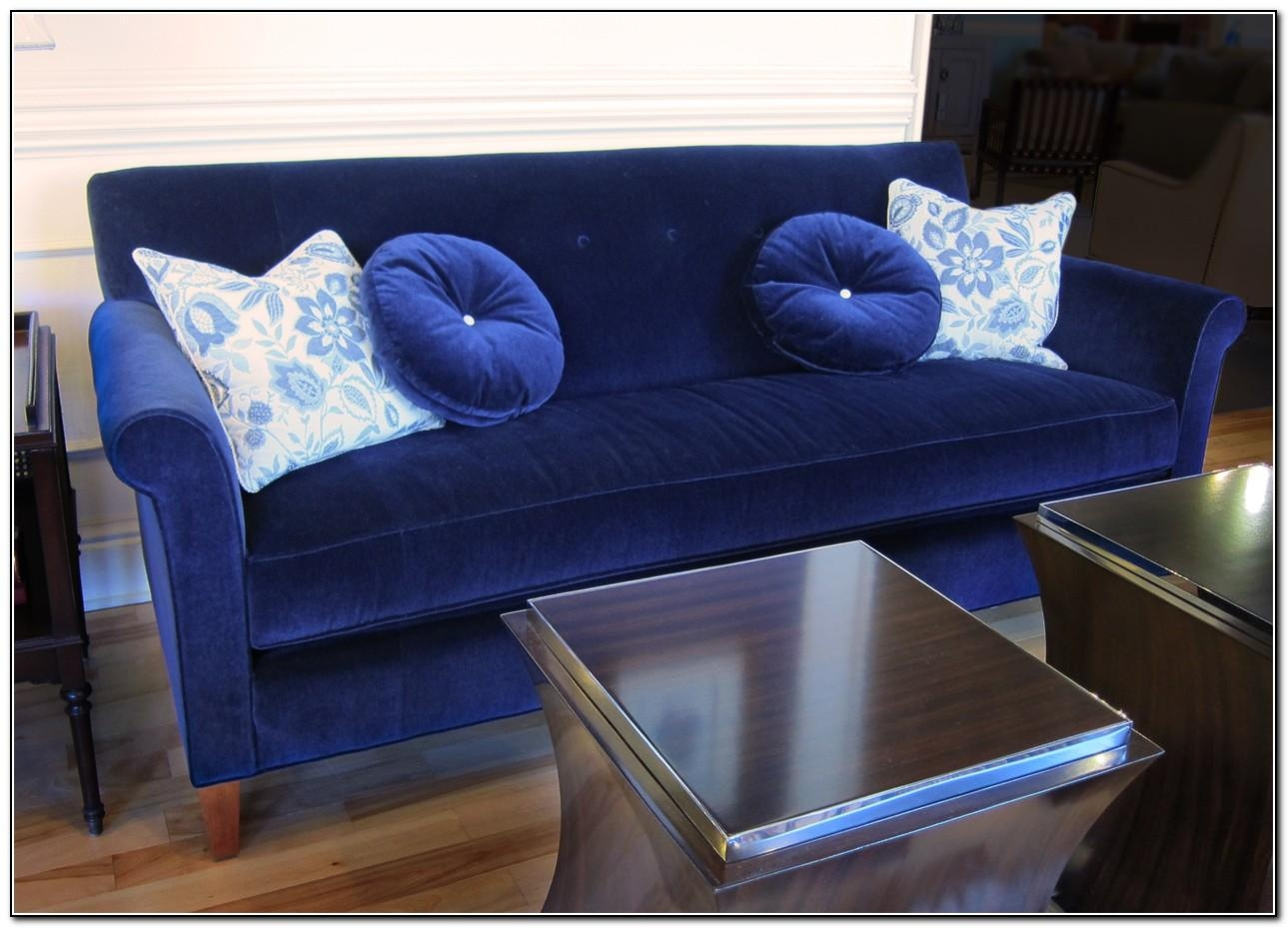 Blue Velvet Sofa Slipcover – Sofa : Home Design Ideas #qqnkrrg6Nb15844 Throughout Blue Slipcover Sofas (Image 4 of 20)