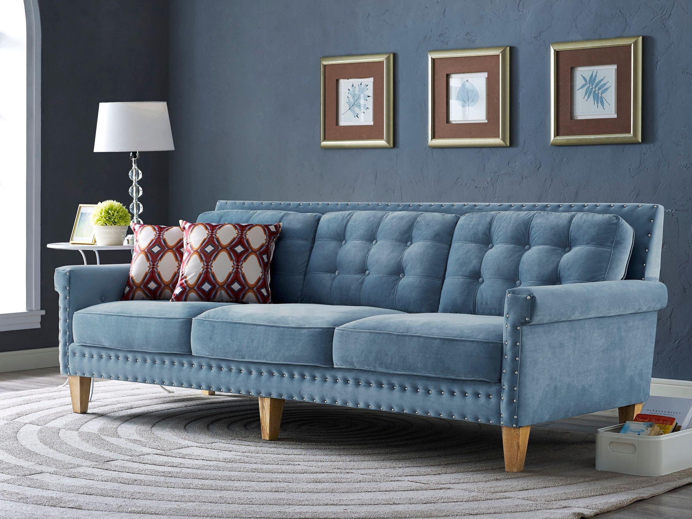 Featured Image of Blue Velvet Tufted Sofas