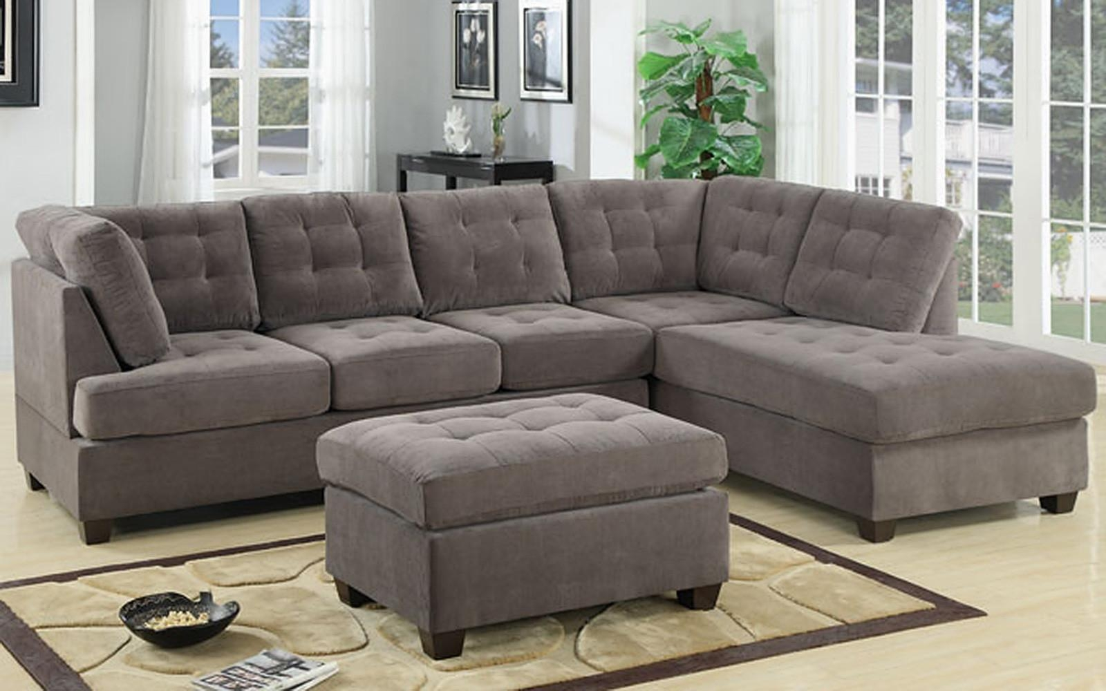 Bobkona Benford 2 Piece Chaise Sectional Sofa Collection With Faux In Sectional Sofa With 2 Chaises (Image 9 of 20)