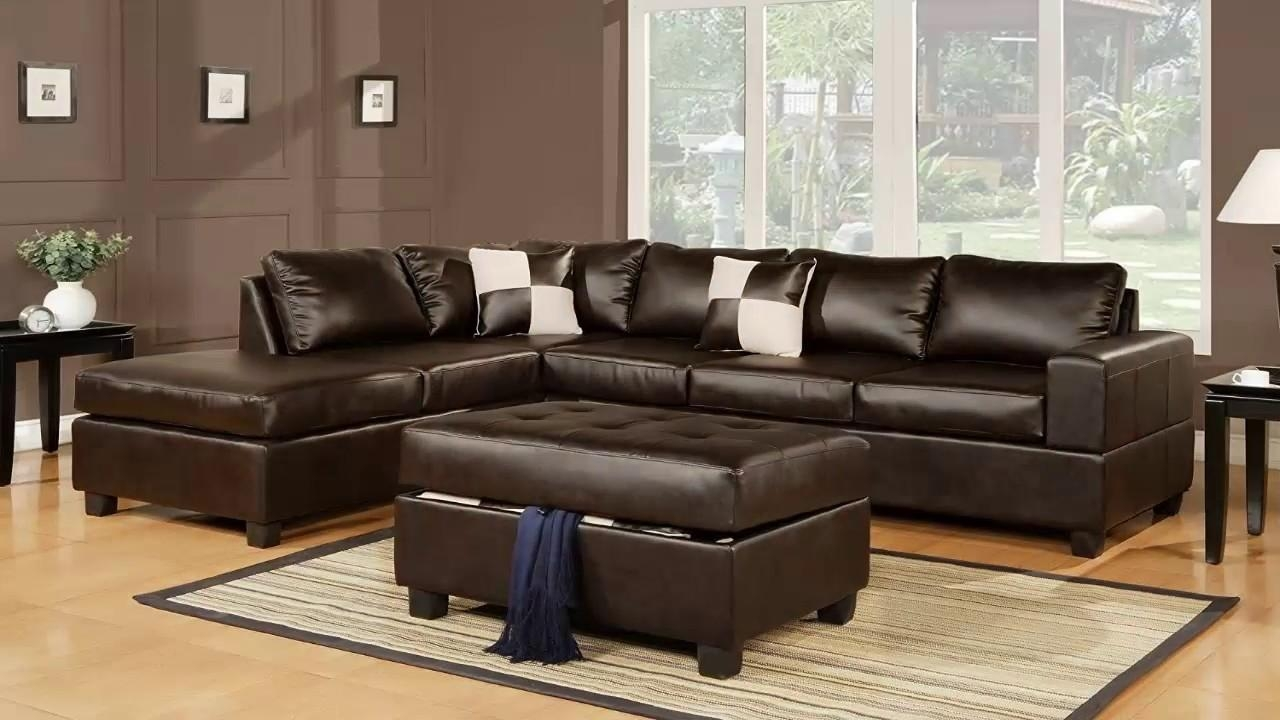 Bobkona Soft Touch Reversible Bonded Leather Match 3 Piece With Soft Sectional Sofas (View 18 of 20)