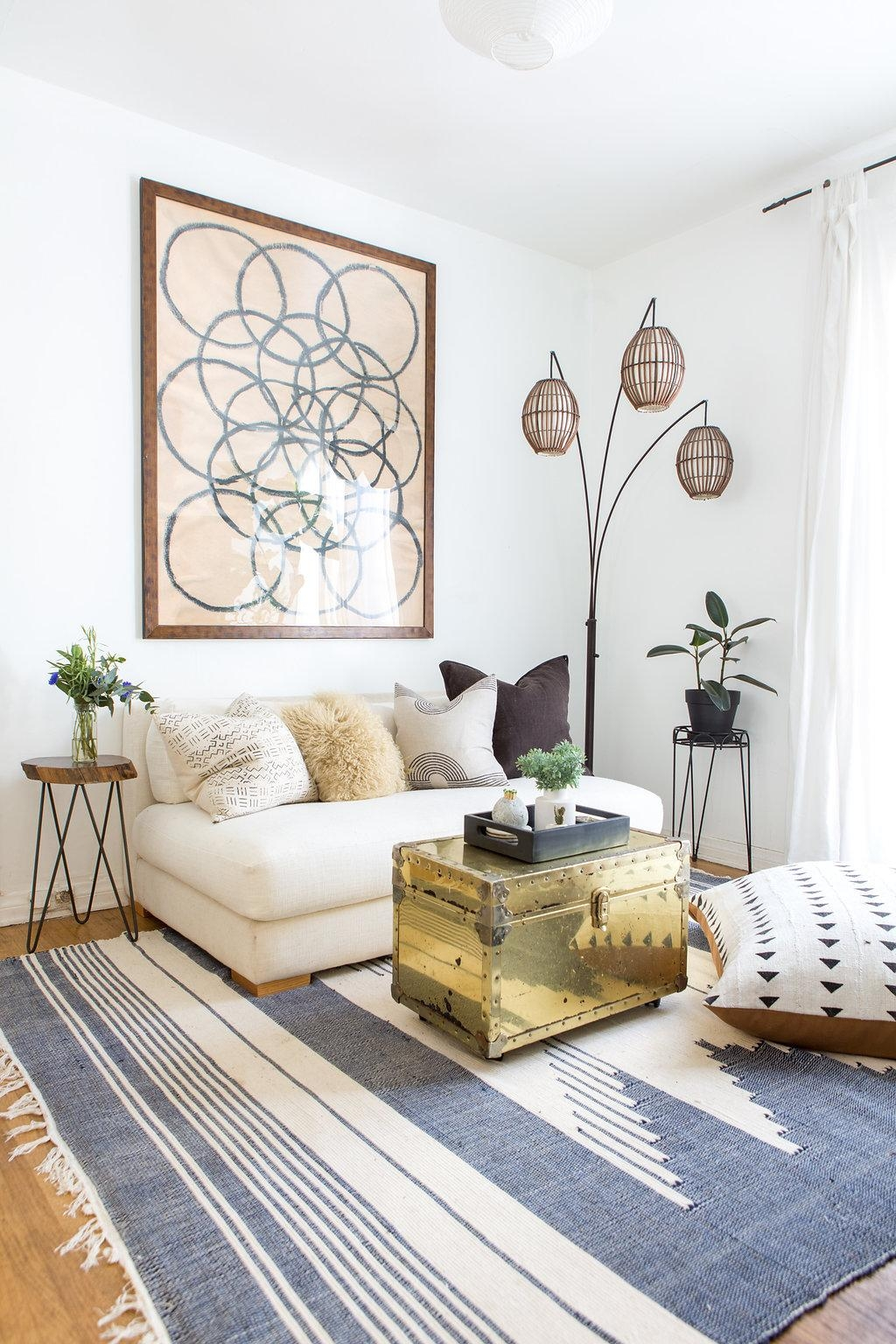 Boho Beach Bungalow: Boho Beach Bungalow Home Tour On Apartment With Cb2 Piazza Sofas (View 13 of 20)