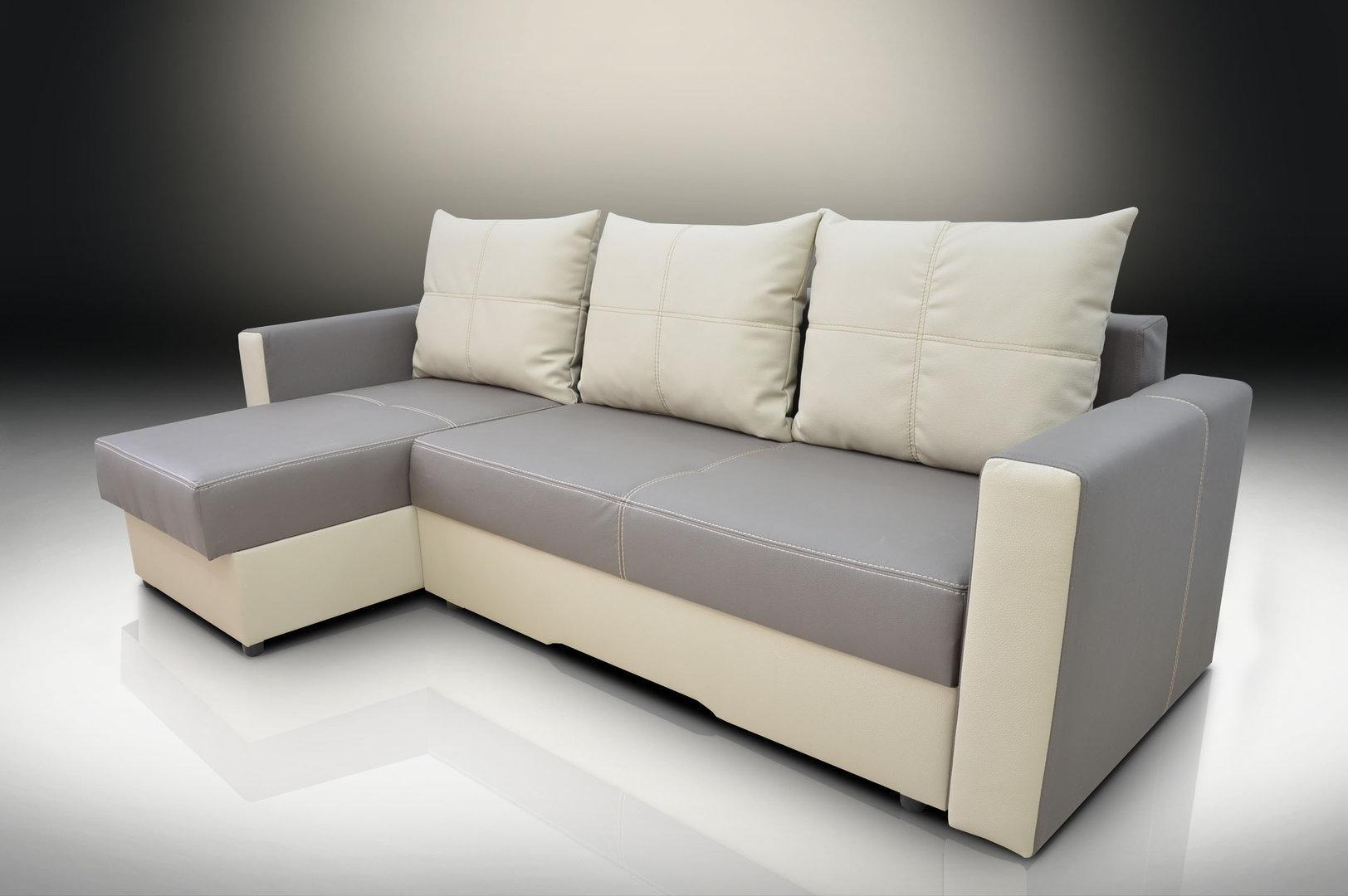 Bonded Leather Corner Sofa Bed Bristol, Elephant/toffee Inside Corner Sofa Bed Sale (Image 4 of 20)