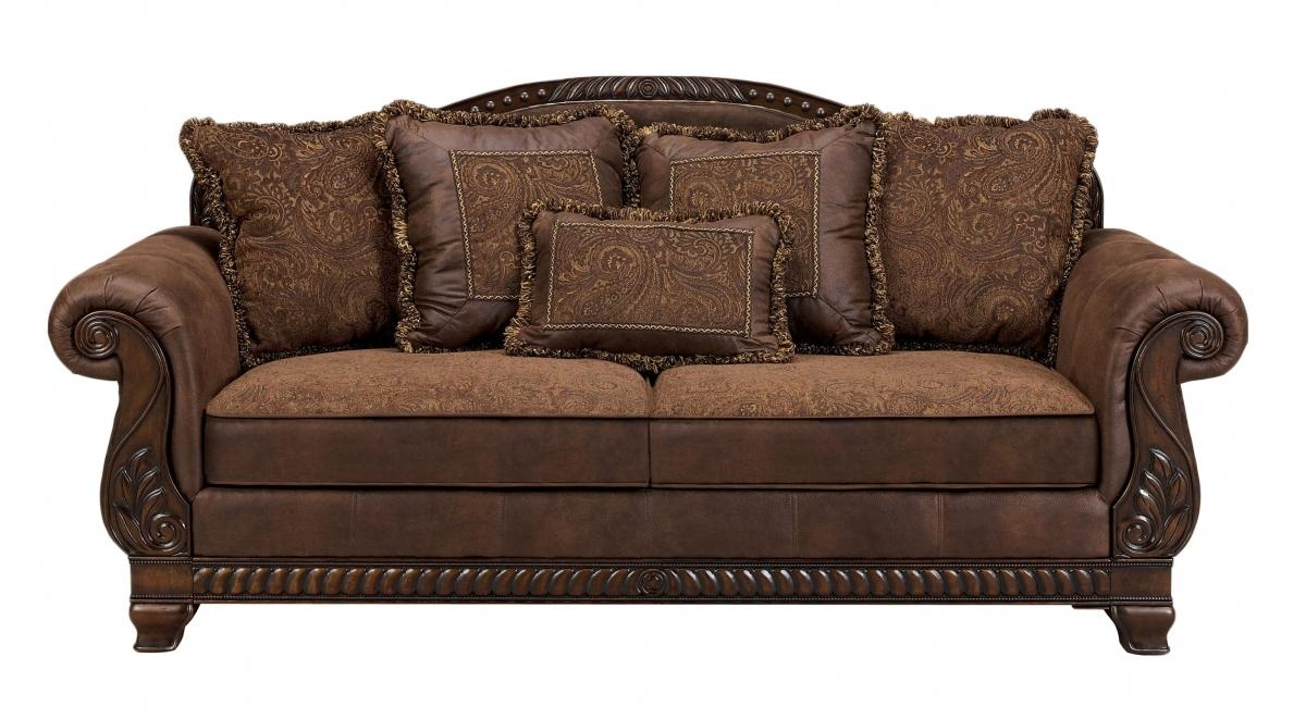 Bradington Traditional Truffle Fabric Sofa | Living Rooms | The Regarding Bradington Truffle Sofas (Image 6 of 20)