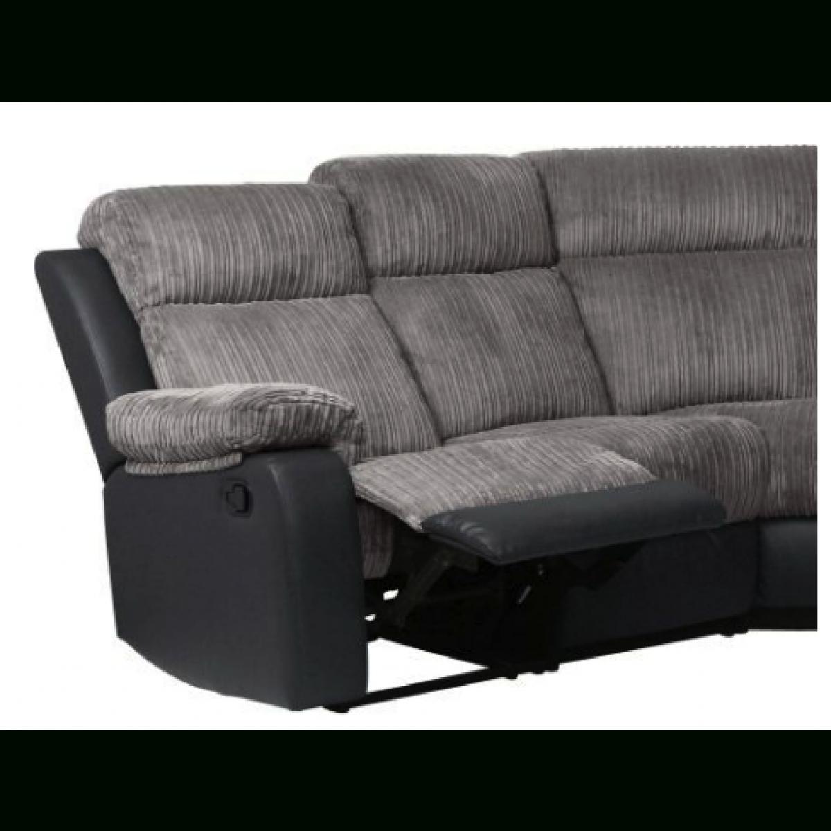 Bradley Fabric Recliner Corner Sofa Group – Charcoal – Furnico Village Throughout Fabric Corner Sofa Bed (Image 3 of 20)