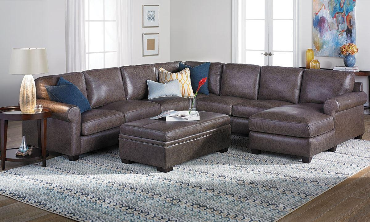Bradley Top Grain Leather & Feather Sectional Sofa | The Dump With Regard To Bradley Sectional Sofas (Image 13 of 20)