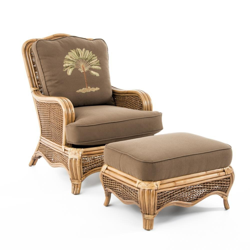 Braxton Culler Shorewood Tropical Rattan Chair And Ottoman Set Throughout Braxton Culler Sofas (View 14 of 20)