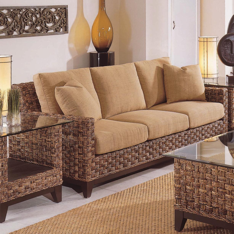 Braxton Culler Tribeca 2960 Modern Wicker Three Seat Queen Sleeper With Regard To Braxton Sofas (Image 5 of 20)