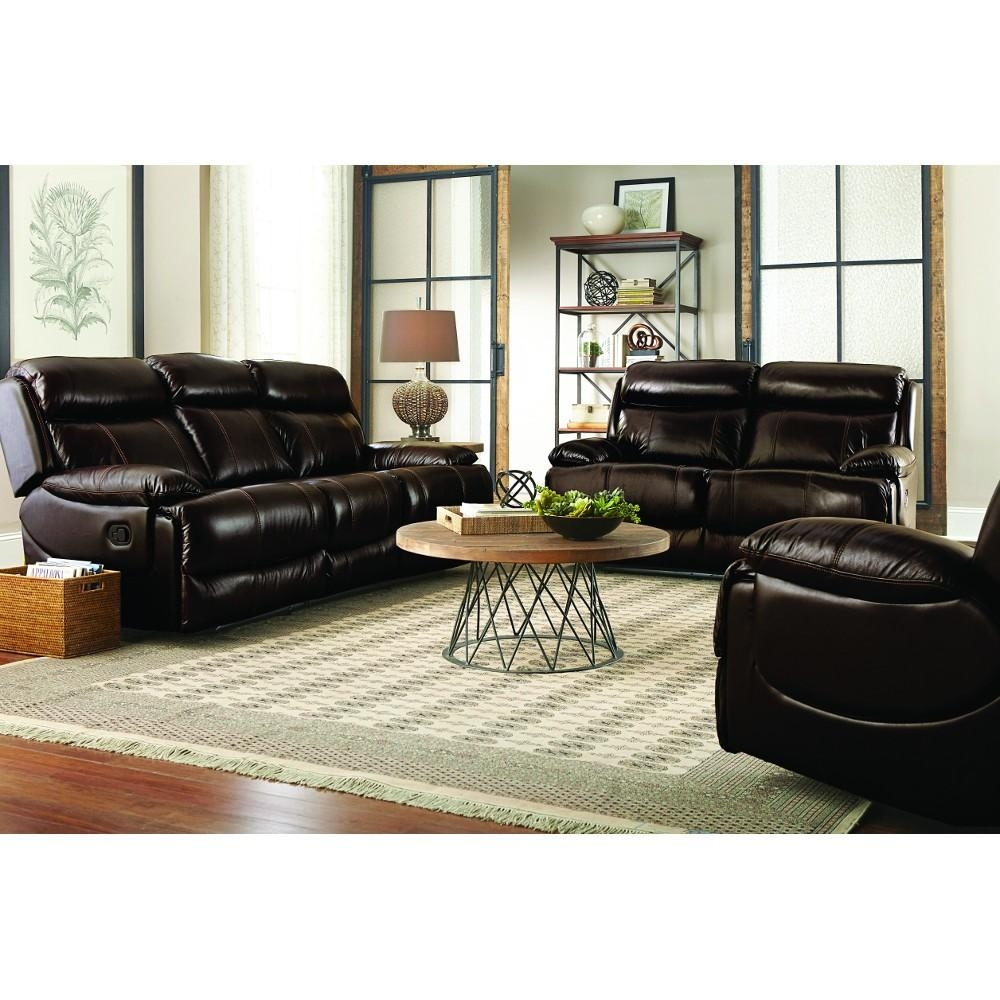 Braxton Leather Living Room – Reclining Sofa & Loveseat (Uxw9872 Inside Braxton Sofas (Image 6 of 20)