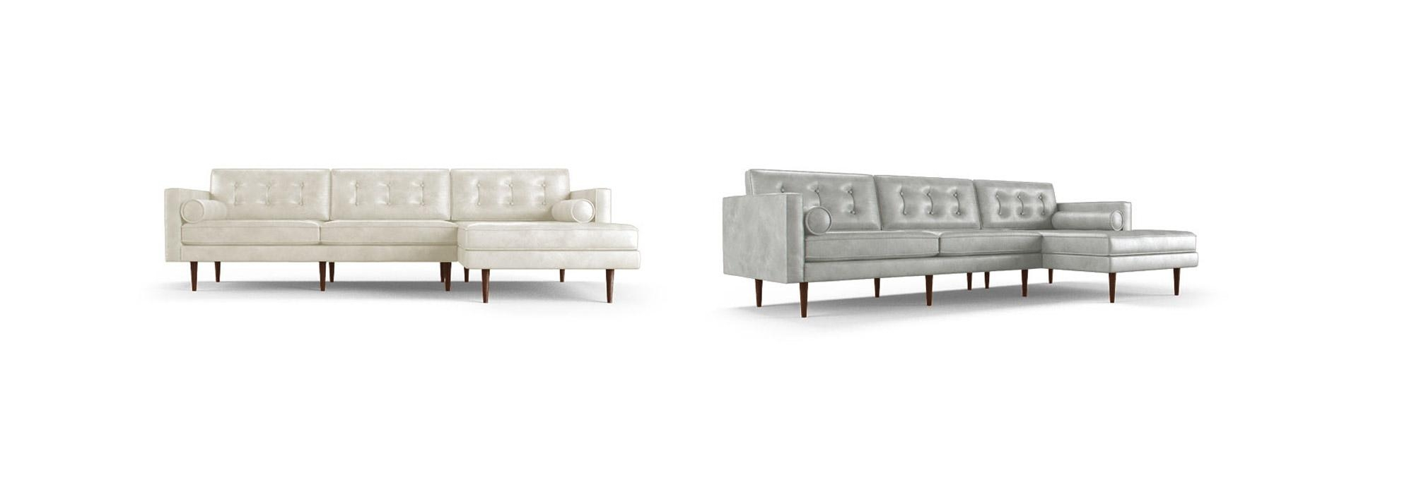 Braxton Leather Sectional | Joybird With Regard To Braxton Sectional Sofa (Image 3 of 15)