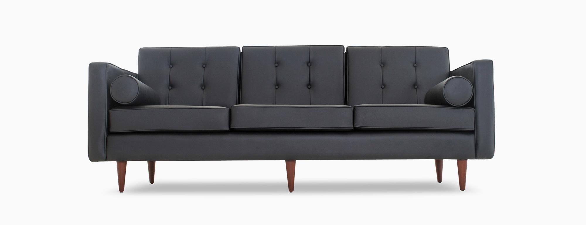 Braxton Leather Sofa | Joybird Pertaining To Braxton Sofa (Image 5 of 20)