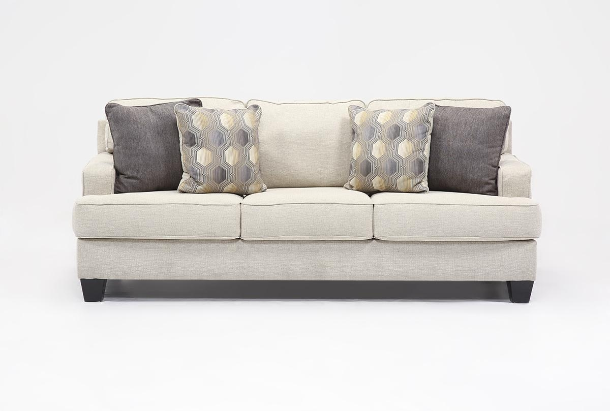 Brielyn Linen Queen Sofa Sleeper – Living Spaces Throughout Queen Sofa Beds (View 3 of 20)