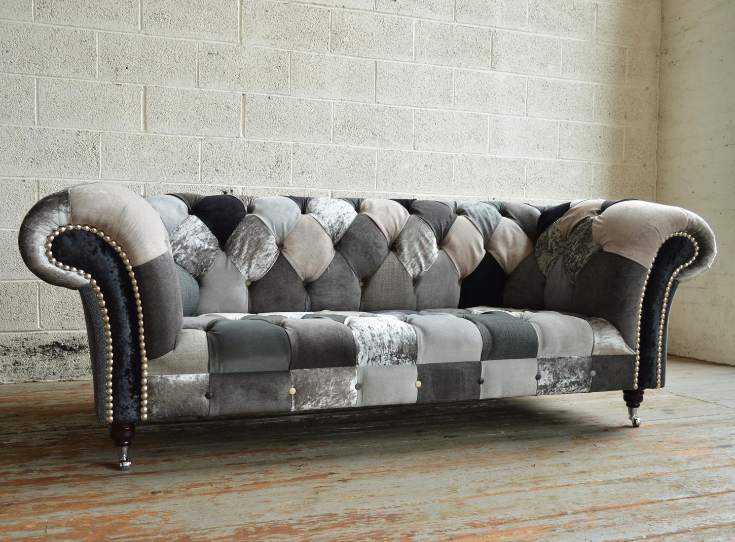 Brighton Patchwork Chesterfield Sofa | Abode Sofas With Chesterfield Sofas (View 16 of 20)