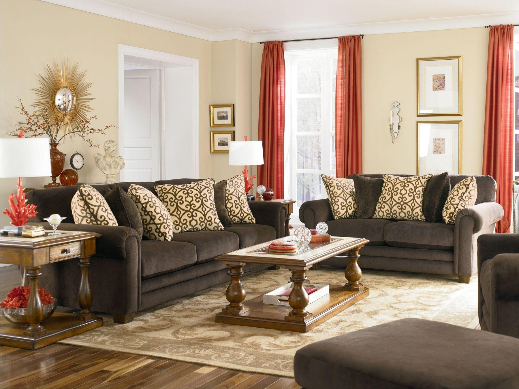 Brilliant Brown Living Room Sets In Inspiration Pertaining To Black Sofas For Living Room (View 19 of 20)