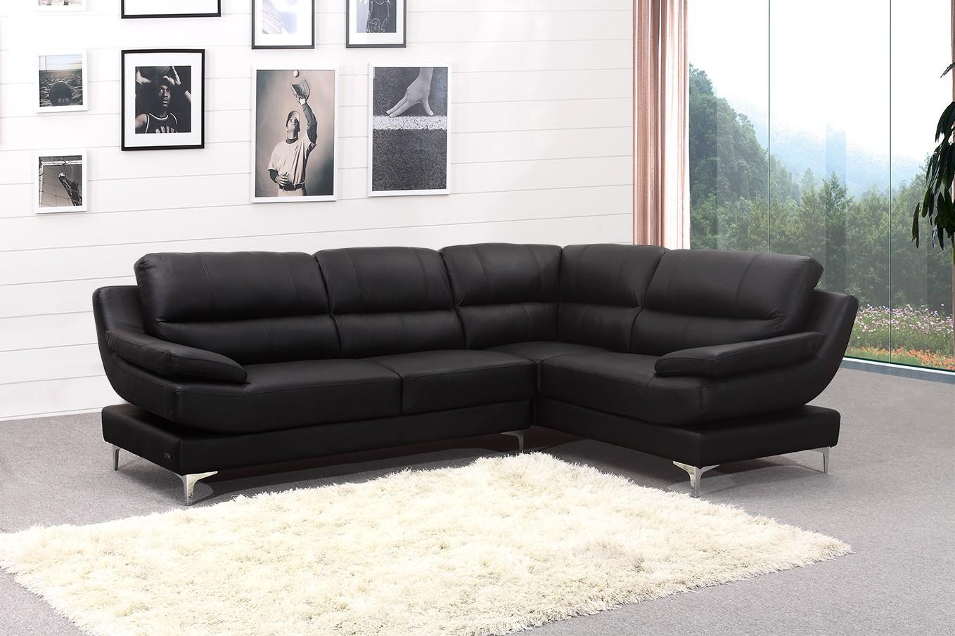 Brilliant Leather Corner Sofa Leather Corner Sofas Groups In A With Black Leather Corner Sofas (Image 2 of 20)