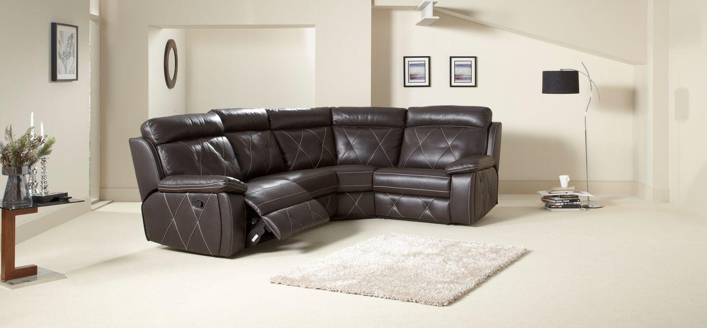 Brilliant Leather Corner Sofa Leather Corner Sofas Groups In A With Regard To Leather Corner Sofas (Image 5 of 20)