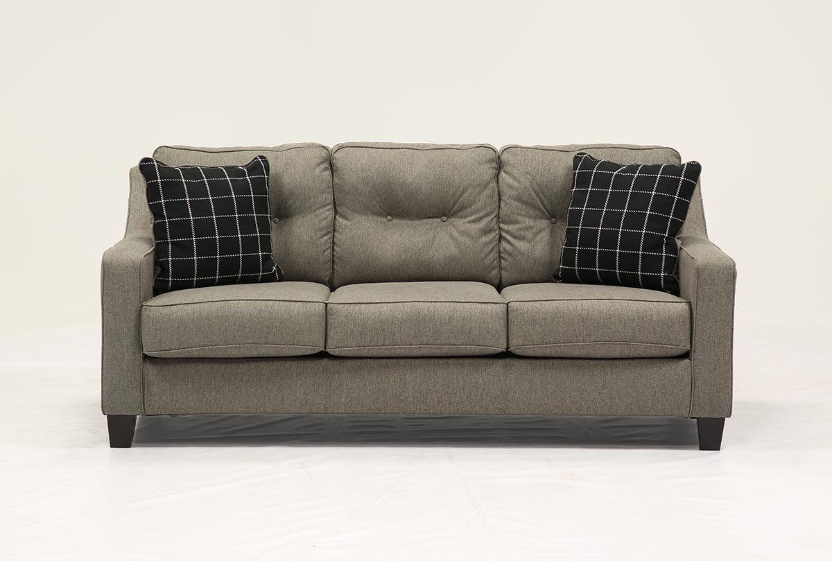 Brindon Charcoal Queen Sofa Sleeper – Living Spaces Intended For Queen Sofa Beds (Image 3 of 20)