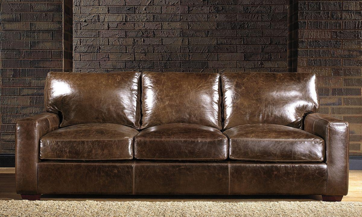 Brompton Leather Sofa | The Dump – America's Furniture Outlet Regarding Brompton Leather Sofas (Image 2 of 20)