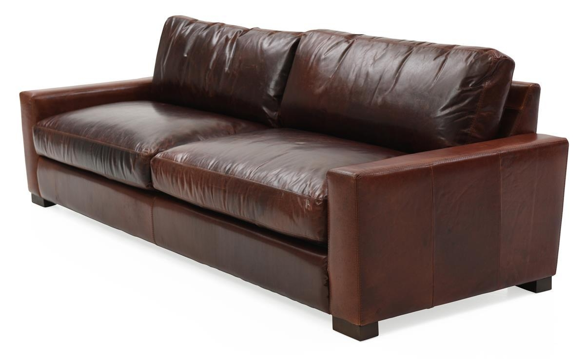 Brompton Leather Sofa | Weir's Furniture Inside Brompton Leather Sectional Sofas (Image 5 of 20)