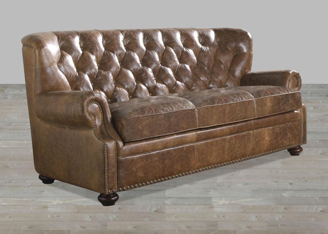 Brompton Leather Vintage Sofa In Brompton Leather Sofas (Image 6 of 20)