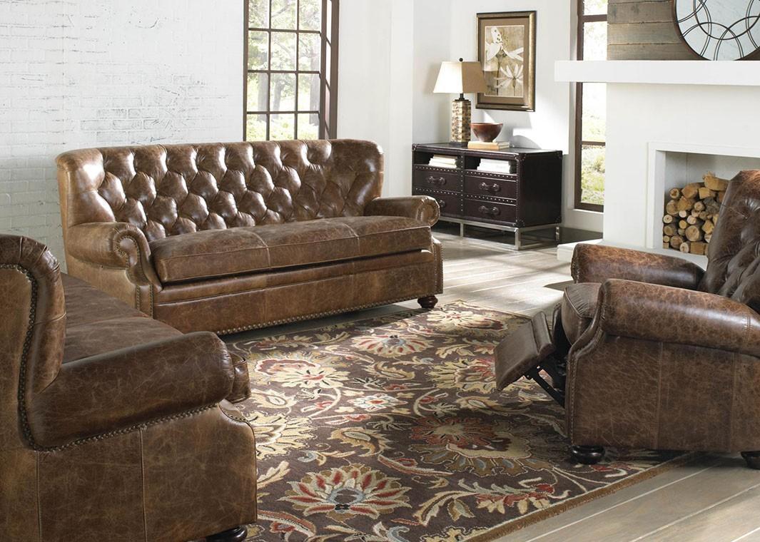 Brompton Leather Vintage Sofa Regarding Brompton Leather Sectional Sofas (View 15 of 20)