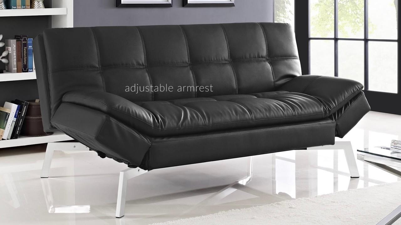 Brooklyn Bonded Leather Euro Lounger – Brown De Review – Youtube Pertaining To Euro Loungers (Image 3 of 20)