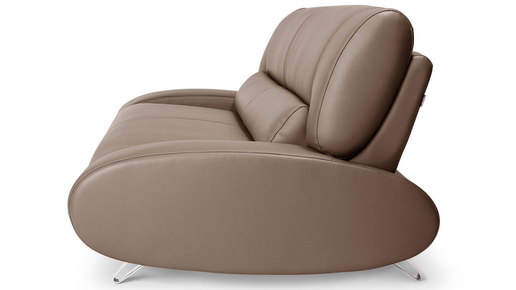 Brown Aspen Leather Sofa Set With Loveseat And Chair | Zuri Furniture Inside Aspen Leather Sofas (Image 10 of 20)