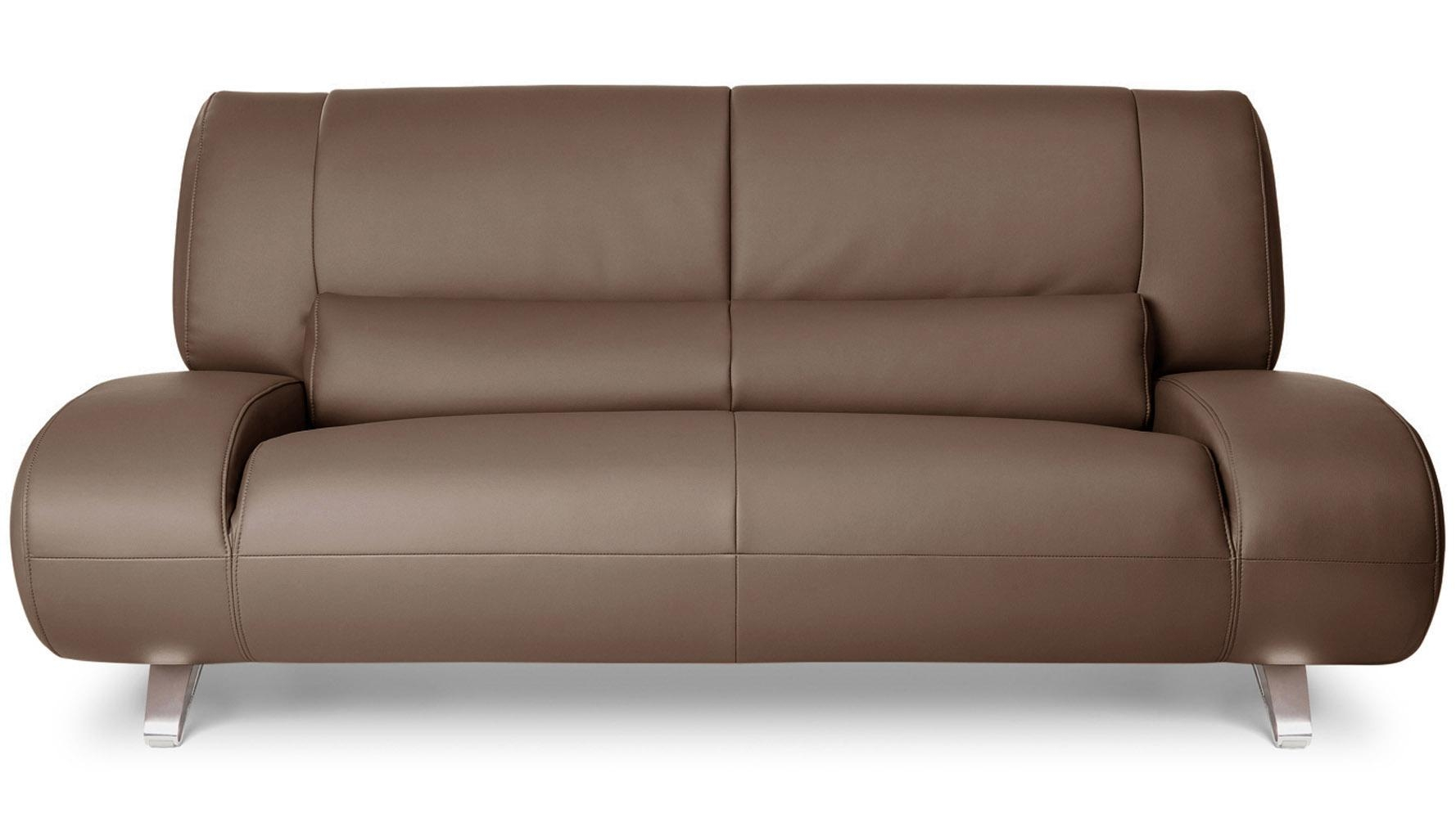 Brown Aspen Leather Sofa Set With Loveseat And Chair | Zuri Furniture Regarding Aspen Leather Sofas (Image 12 of 20)