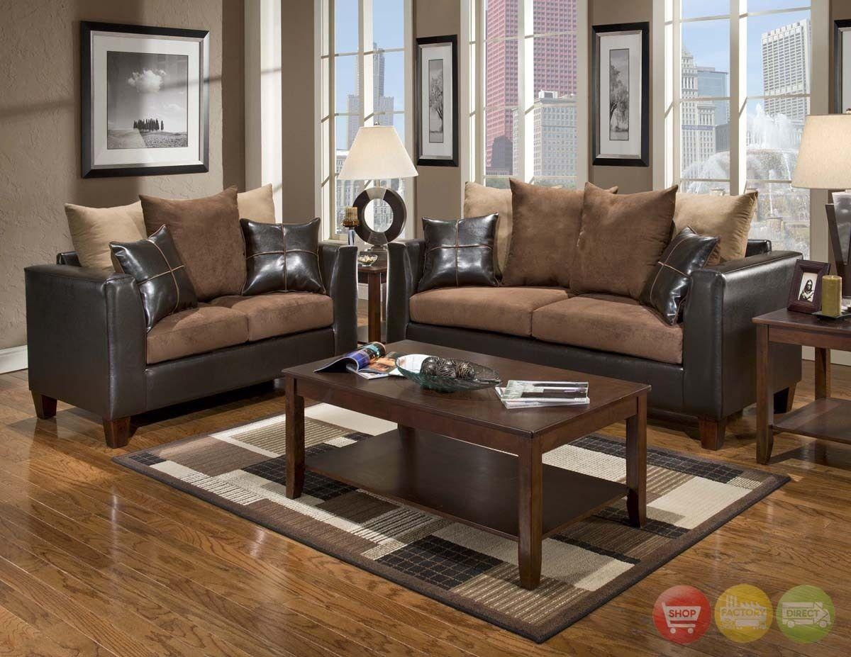 Brown Chairs For Living Room With Brown Sofa Living Room Furniture With Regard To Brown Sofa Chairs (Image 11 of 20)