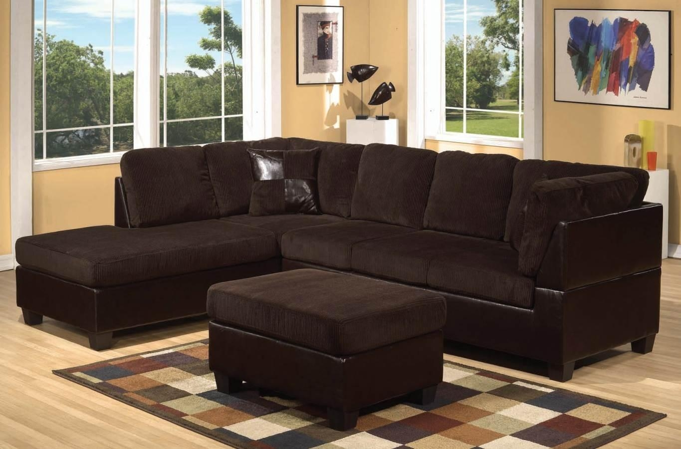 Brown Corduroy Couch : New Lighting – Trend Corduroy Couch Style Inside Brown Corduroy Sofas (Image 4 of 20)