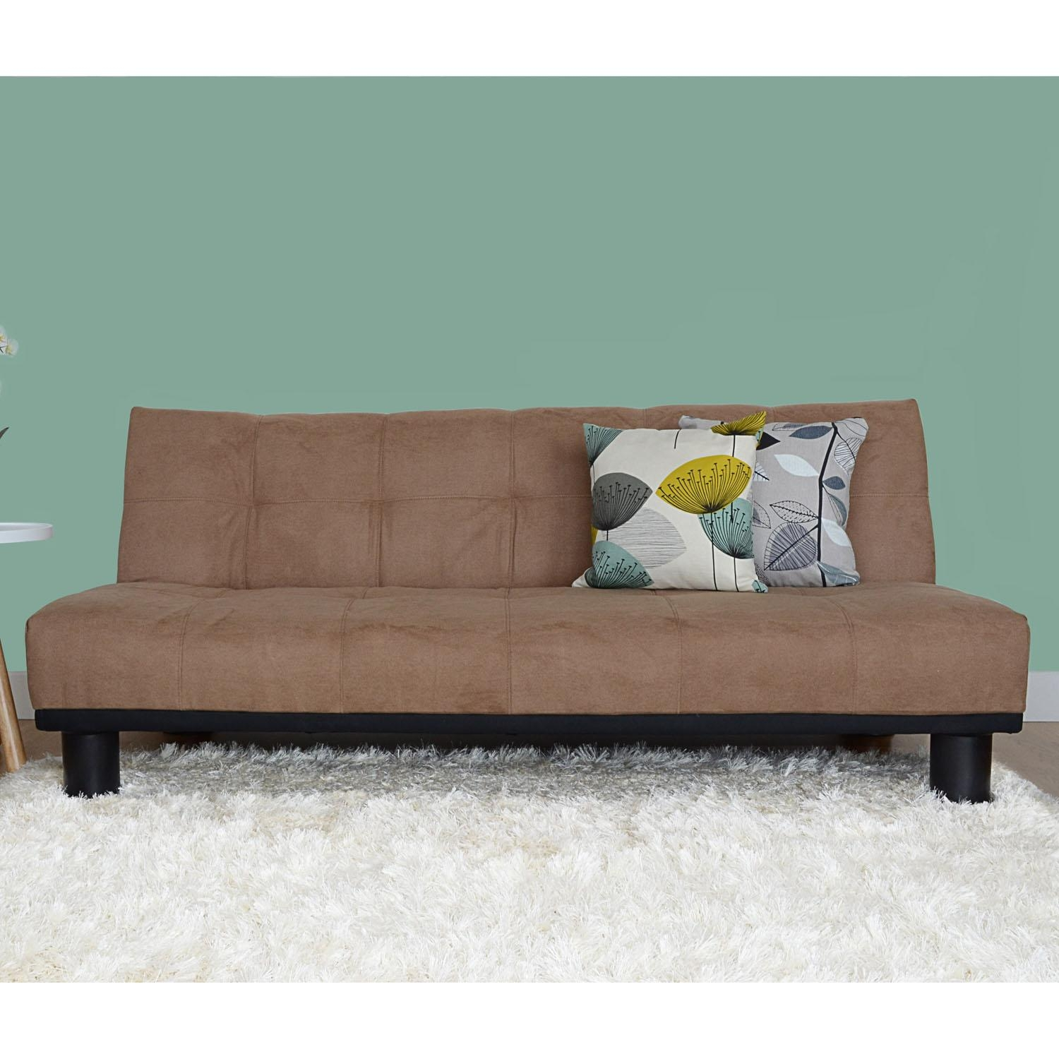 Brown Faux Suede Sofa Bed | Sofa Menzilperde With Faux Suede Sofa Bed (Image 3 of 20)