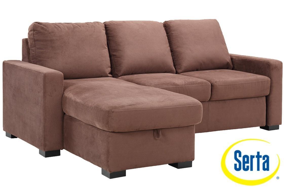 Brown Futon Sofa Sleeper |Chester Serta Dream Sleeper |The Futon Shop Pertaining To Leather Fouton Sofas (Image 5 of 20)