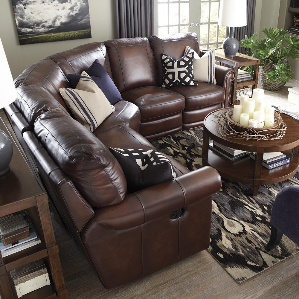 Brown Leather Motion Sectional | Bassett Home Furnishings In Motion Sectional Sofas (Image 4 of 20)