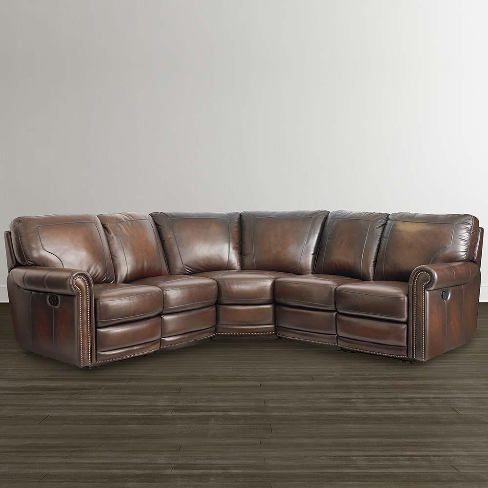 Brown Leather Motion Sectional | Bassett Home Furnishings Inside Motion Sectional Sofas (Image 5 of 20)