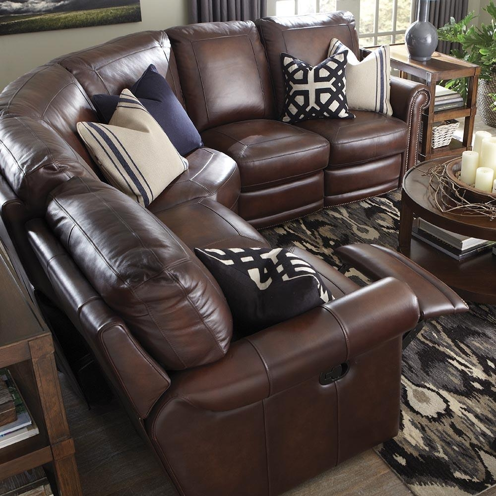 Brown Leather Motion Sectional | Bassett Home Furnishings With Regard To Leather Motion Sectional Sofa (View 15 of 20)