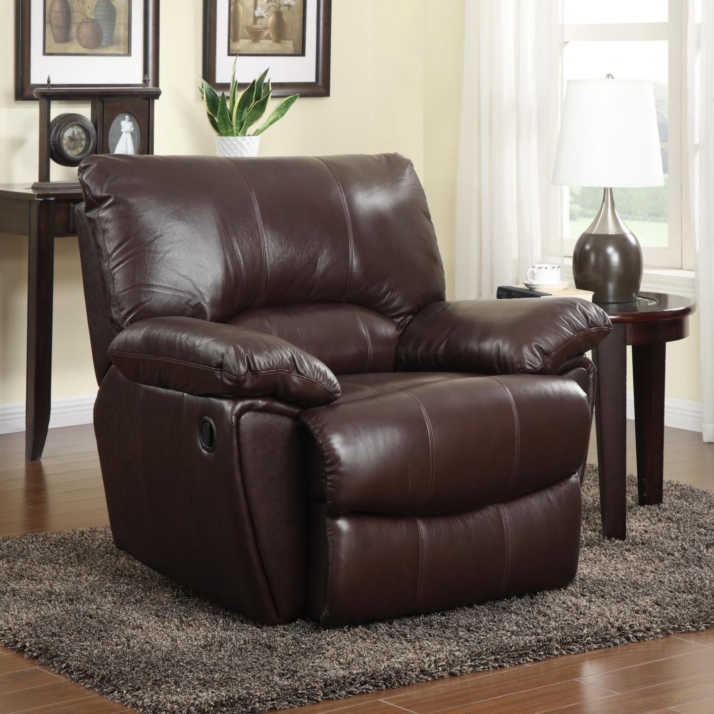 Brown Leather Power Reclining Chair – Steal A Sofa Furniture Inside Sofa Chair Recliner (Image 3 of 20)