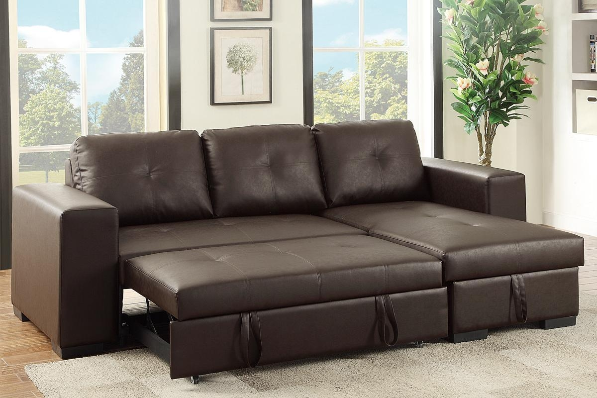 Brown Leather Sectional Sleeper Sofa – Steal A Sofa Furniture Within Los Angeles Sleeper Sofas (View 15 of 20)