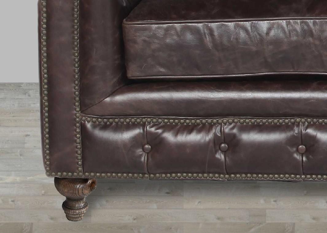 Brown Leather Sofa Nailhead Trim Inside Brown Leather Sofas With Nailhead Trim (Image 4 of 20)