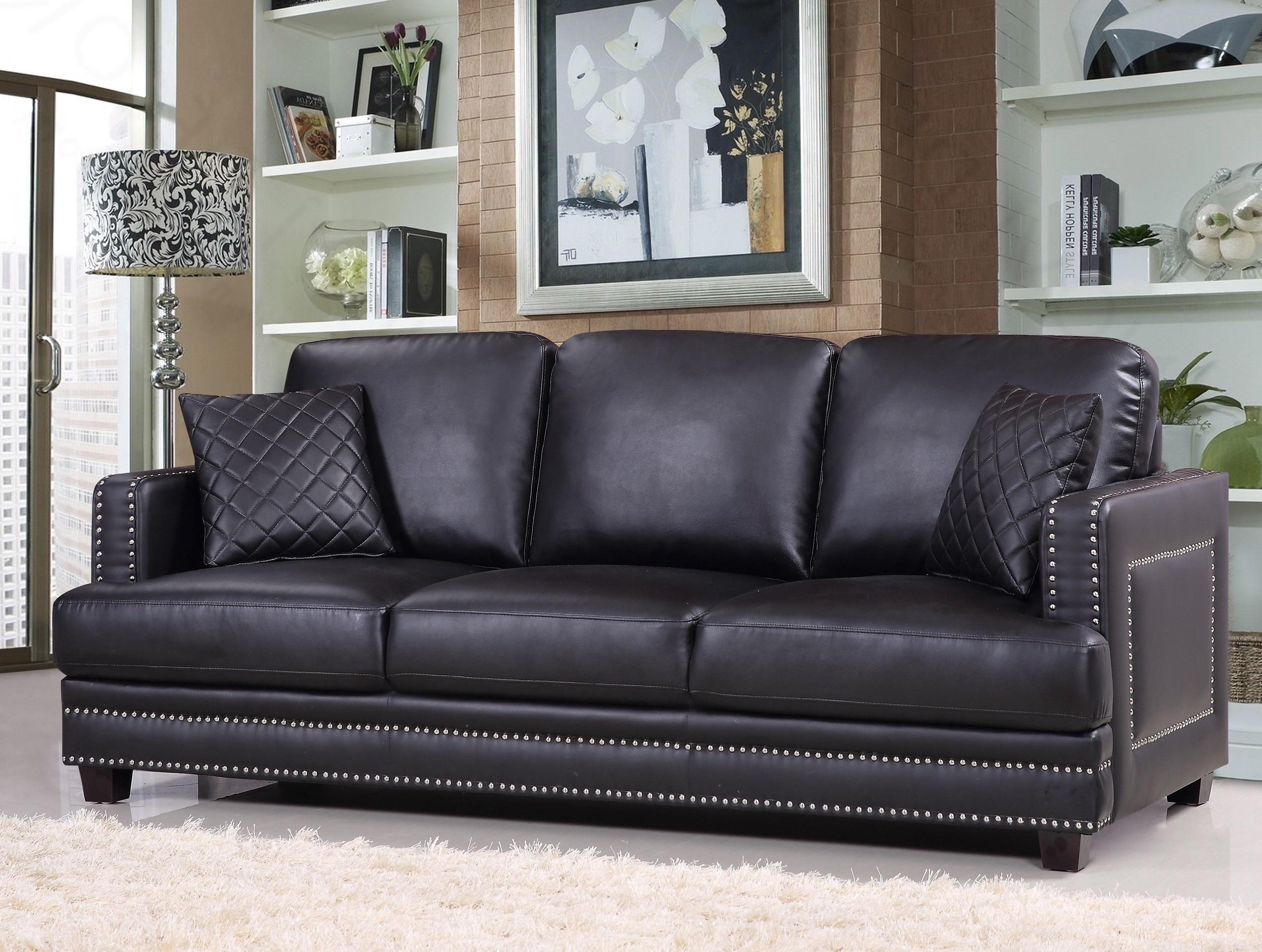 Brown Leather Sofa Nailhead Trim.  (Image 5 of 20)