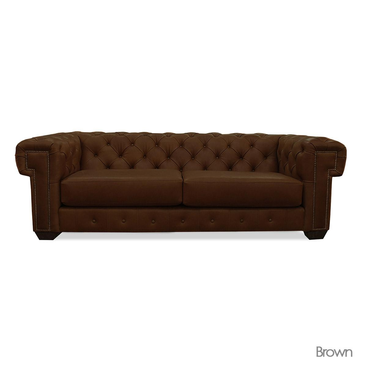 Brown Leather Tufted Sofa With Design Ideas 10493 | Kengire With Regard To Brown Leather Tufted Sofas (Image 2 of 20)