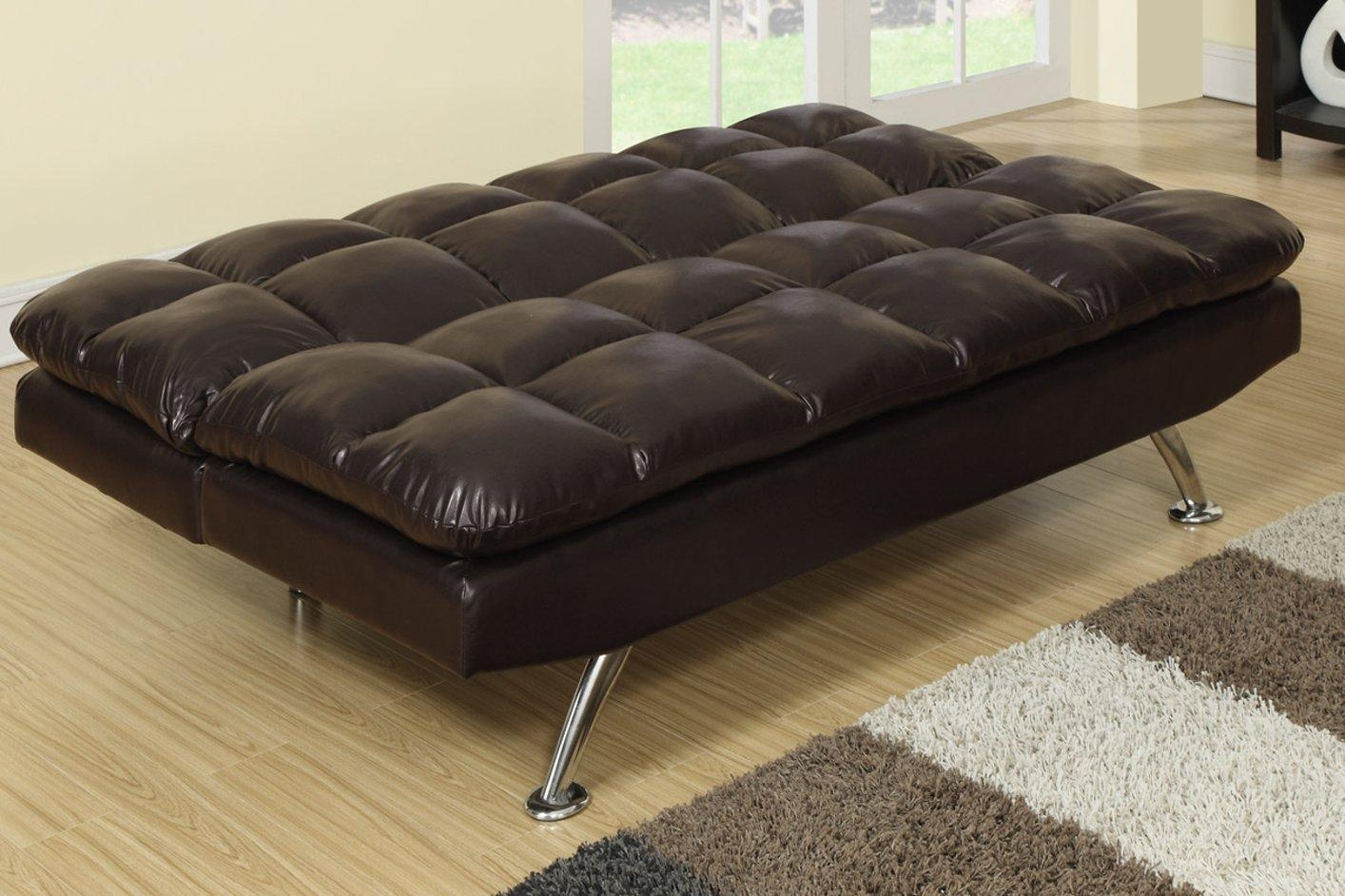 Brown Leather Twin Size Sofa Bed – Steal A Sofa Furniture Outlet With Regard To Twin Sofa Chairs (Image 3 of 20)