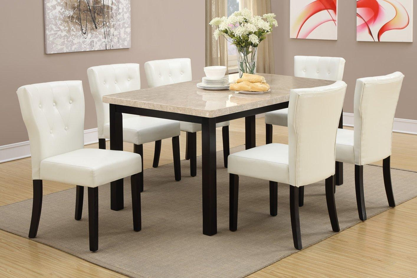 Brown Marble Dining Table – Steal A Sofa Furniture Outlet Los In Dining Table With Sofa Chairs (Image 6 of 20)