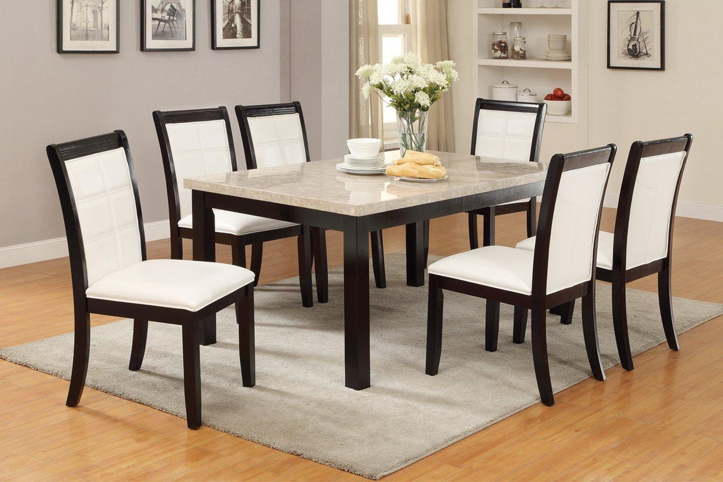 Brown Marble Dining Table – Steal A Sofa Furniture Outlet Los Inside Dining Table With Sofa Chairs (Image 8 of 20)