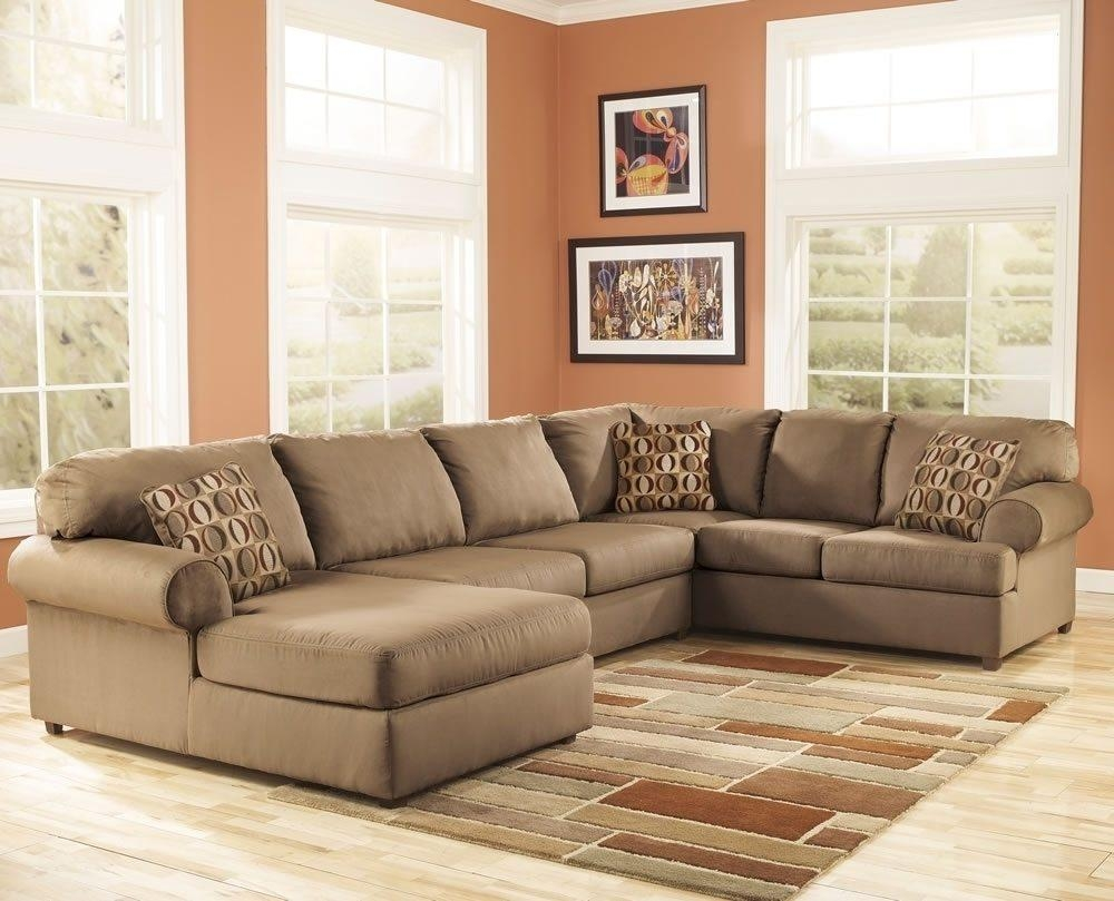 Brown Microfiber Sectional Sofa 81 With Brown Microfiber Sectional Intended For Microfiber Sectional Sofas (Image 4 of 20)