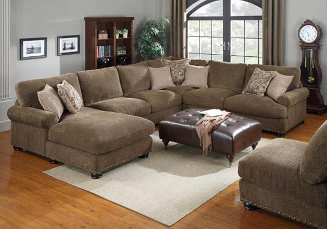 Brown Sectional Couch (Image 2 of 15)
