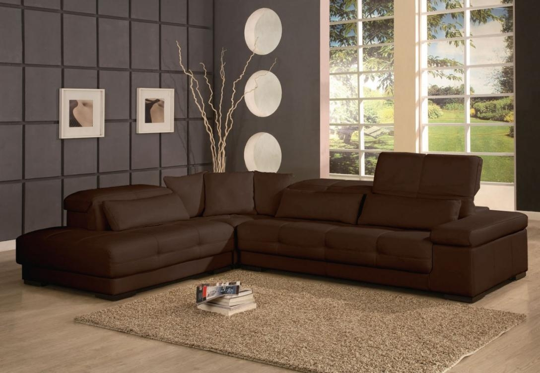 Brown Sectional Sofa For Chocolate Brown Sectional (Image 4 of 15)
